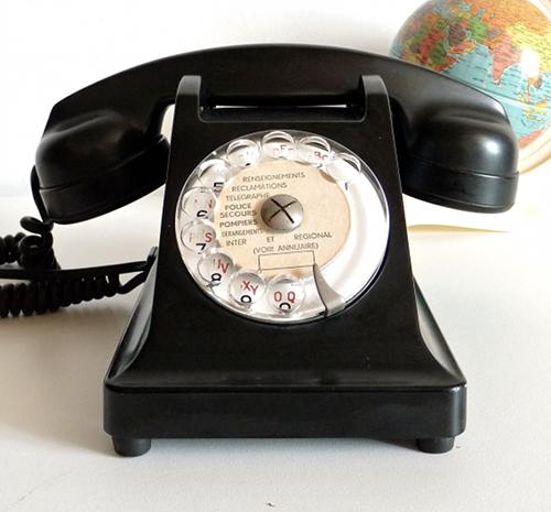 p telephone soixante noir