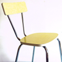 chaise vintage formica jaune